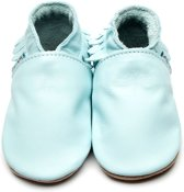Inch Blue babyslofjes moccasin baby blue maat S (10,5 cm)