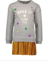 Like Flo Meisjes jurken Like Flo Flo girls AO sweater tuniek with pli grijs 164