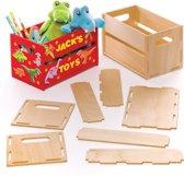Baker Ross Sets met houten minikratjes (2 stuks per verpakking) Voor kinderen, om naar eigen smaak te versieren
