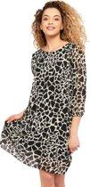 Plissé-jurk met giraf print - Wit