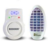 Riddex Plus Charge 2-in-1 ongedierteverjager muizen en muggen - ORIGINEEL pas op voor imitatie - ongedierteverjaging door digitale electronische pulsen