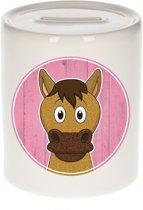 Paarden spaarpot voor kinderen 9 cm