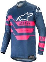 Alpinestars Crossshirt Racer Flagship Indigo/Dark Navy/Fluor Pink-S