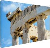 FotoCadeau.nl - Detail Akropolis van Athene Canvas 60x40 cm - Foto print op Canvas schilderij (Wanddecoratie)
