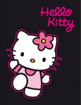 Hello Kitty Fleece Deken.Hello Kitty Fleece Deken Zwart