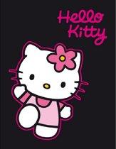 Hello Kitty Fleece Deken.Hello Kitty Fleece Deken Zwart