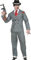 Maffia Kostuum | Originele Krijtstreep Gangster | Man | XL | Carnaval kostuum | Verkleedkleding