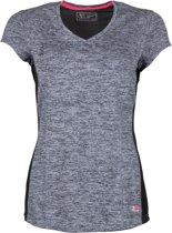 Sjeng Sports Telyn  Sportshirt - Maat M  - Vrouwen - donker grijs/zwart