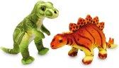 Knuffel dinosaurus, set van twee