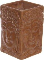 Vierkanten boeddha oliebrander - oudgeel