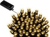 LED Durawise XL twinkle buiten op batterij 17.9m-240L zwart warm wit Lumineo