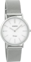 OOZOO Vintage Zilverkleurig/Parelmoer horloge  (32 mm) - Zilverkleurig