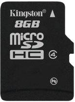 Kingston microSD kaart 8 GB Class 4 - Single Pack w/o Adapter