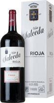 Vina Salceda Crianza Magnum Giftpack - Tempranillo, Mazuelo, E.A. - Stevige Rode Wijn - 1 x 150 cl