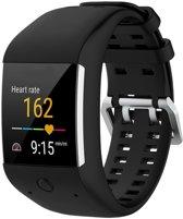 Siliconen Horloge Band Voor Polar M600 - Armband / Polsband / Strap / Sportband - Zwart