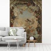 Fotobehang vinyl - Allegory of the Planets and Continents - Schilderij van Giovanni Battista Tiepolo breedte 190 cm x hoogte 260 cm - Foto print op behang (in 7 formaten beschikbaar)