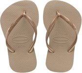 Havaianas Slim Slippers Dames - Sand Grey/L. Golden - Maat 39/40