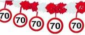 70 Jaar Verkeersbord Slinger met Onderhanger