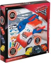 Disney Cars Verfspuit Studio |Electronische Airbrush Station | Incl. Sjablonen / Stickers en Markers | Knutselen / Tekenen | Werkt op Batterij | Speelgoed | Disney | Auto | Spray