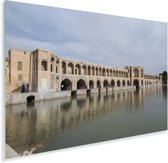 Khaju bridge met blauwe lucht in het Aziatische Iran Plexiglas 180x120 cm - Foto print op Glas (Plexiglas wanddecoratie) XXL / Groot formaat!