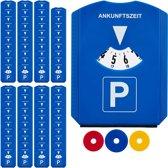 relaxdays 80 x parkeerschijf - winkelwagenmuntjes - ijskrabber – parkeerkaart