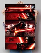 STAR WARS EPISODE VII THE FORCE AWAKENS Kylo Ren panels  - Poster 61 x 91.5 cm