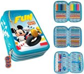 Mickey Mouse Etui gevuld, 3 levels