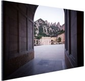 Klooster van Montserrat in Barcelona Aluminium 180x120 cm - Foto print op Aluminium (metaal wanddecoratie)