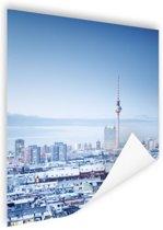 Berlijn winter stadslandschap Poster 60x90 cm - Foto print op Poster (wanddecoratie woonkamer / slaapkamer) / Steden Poster