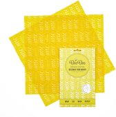 BeeBee Wraps Set van 2 LARGE Bijenwas Voedsel Wraps | Milieubewust en duurzaam alternatief voor vershoudfolie