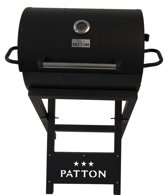 Patton Barrel Chef Life Style Grill Houtskoolbarbecue - Zwart