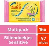 Zwitsal Baby Billendoekjes Sensitive - 16 x 57 stuk -Voordeelverpakking