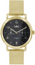IKKI Liz Gold/Black Horloge LI-03
