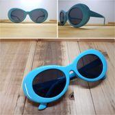Planga blauw & zwarte glazen sixty, seventy, eighties zonnebril.