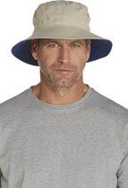Coolibar UV omkeerbare hoed Heren - Beige/Donkerblauw - maat L/XL (60CM)