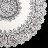 Terraskleden/Tafelkleden Amira Vinyl 152cm Ø White