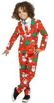 OppoSuits Holiday Hero - Jongens Kostuum - Gekleurd - Kerst - Maat 98/104