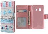 Tribal Light Blue wallet hoesje Samsung Galaxy ace Style G310