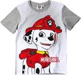 Paw Patrol T-shirt met korte mouw - grijs - Maat 104