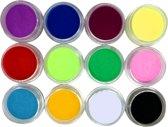 12-Delige Acryl Poeder Set- Starter Set Voor Nail Art Acrylnagels