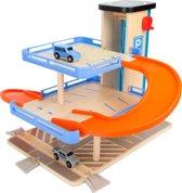 Houten Garage - houten treinbaan