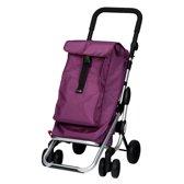 Playmarket Boodschappentrolley Go Up Lila 4 wielen - 40 L Inhoud - inklapbaar - Extra vriesvak
