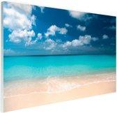 Knip Strand op Curacao Glas 60x40 cm - Foto print op Glas (Plexiglas wanddecoratie)