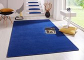 Modern effen vloerkleed Fancy - blauw 80x150 cm