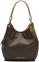 Michael Kors Schoudertassen Lillie Large Chain Shoulder Tote Bruin