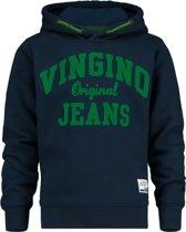 Vingino Jongens Hoodie - Dark Blue - Maat 152