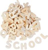 Set van 300 houten letters van 2,2 cm