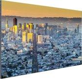 San Francisco in ochtendlicht Aluminium 180x120 cm - Foto print op Aluminium (metaal wanddecoratie) XXL / Groot formaat!