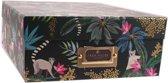 Blueprint Collections A4 Opbergbox Met Tropische Print