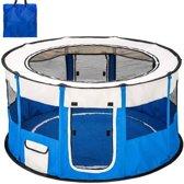 Topmast Nylon Puppyren Rond | Blauw - 114 x 114 x 60cm